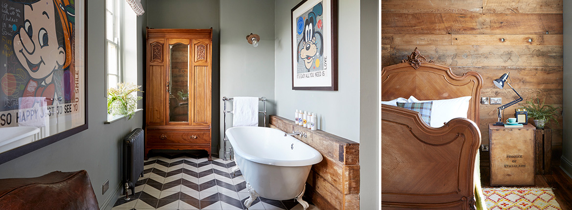 Luxury double rooms with bathtubs, Artist Residence Brighton, boutique hotel in Brighton, Brighton seafront