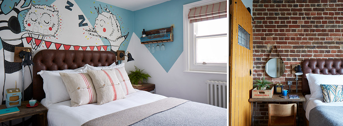 Sea view room, Artist Residence Brighton, boutique hotel in Brighton, Brighton seafront