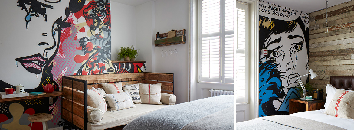 Double, twin or triple rooms at Artist Residence Brighton, a boutique hotel on Brighton seafront