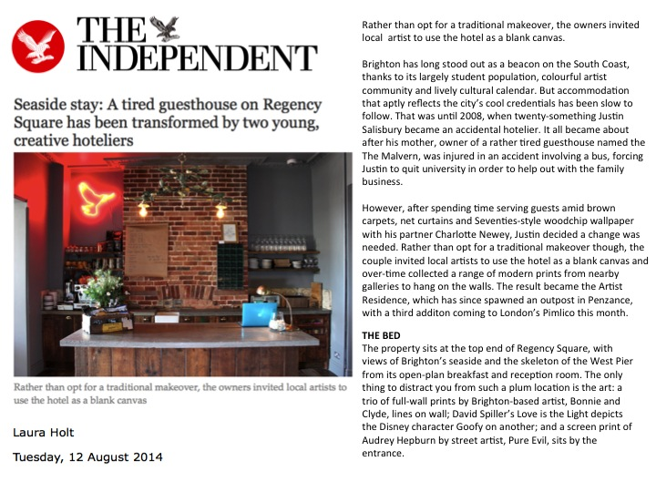 A guesthouse on Regency Square has been transformed by two hoteliers The Independent